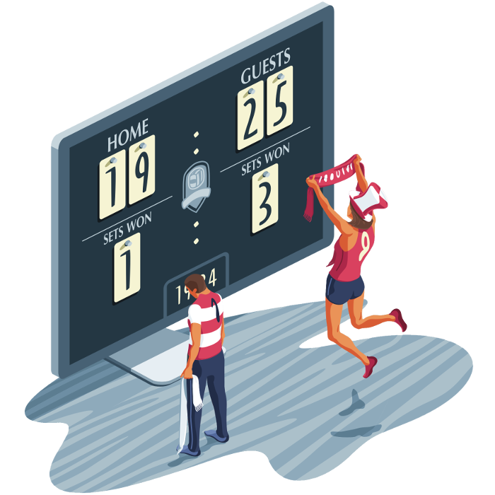 Women volleyball scores