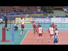 Bartosz Kurek 3rd meter spike (Poland - Iran)