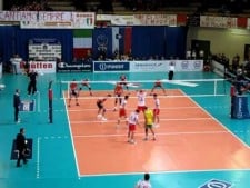 ACH Volley Bled fans in Macerata
