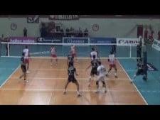 Łukasz Żygadło in match Olympiacos - Trentino