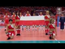 Polish anthem in Spodek