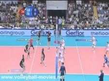 Georg Grozer funny serve and attack