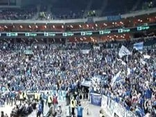 Iraklis Thessaloniki fans in Prague 2009