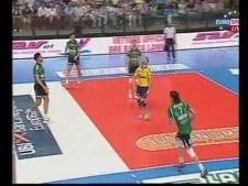 Libero (Hubert Henno) scored the point