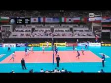 Dragan Travica nice set (France - Italy)