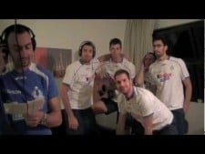 Italian players singing AC/DC - Highway to Hell