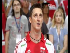 Michal Lasko sings Polish anthem