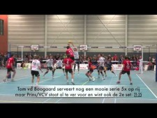 Prins actions in match BMC/SSS Barneveld - Prins VCV Veenendaal