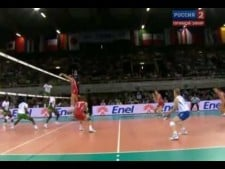 Nathan Wounembaina in match Russia - Cameroon