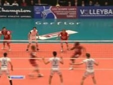 Nathan Wounembaina in match Trentino Volley - Noliko Maaseik