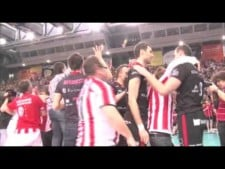 Resovia fans celebration after Polish Champion title 2011/12