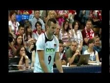 Georg Grozer 5 aces in a row (Poland - Germany)
