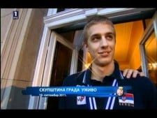 Serbian fans celebration after EuroVolley 2011 (part 1)