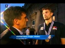 Serbian fans celebration after EuroVolley 2011 (part 2)