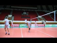 AZS Olsztyn training (before match Olsztyn - Resovia)