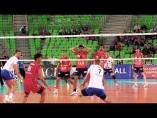 ACH Volley Ljubljana - Generali Unterchahing (slow motion)