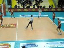 Copra Piacenza playing football