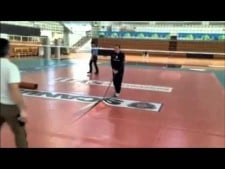 How looks preparation of volleyball floor