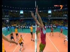 Todor Skrimov single block vs Leandro Vissotto