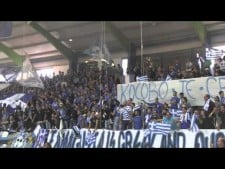 Anorthosis fans at the match Famagusta - Istanbul