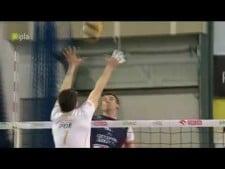 Facundo Conte huge block on Grzegorz Bociek