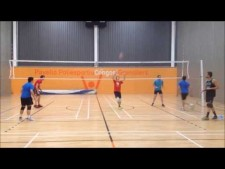 Volleyball - Exercise reception and blocking