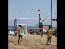 beach volleyball on turkey