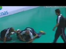 Volleyball quarrel (Sergio Nogueira vs. Mario Junior)