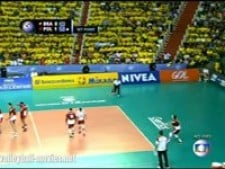 Incredible action in match Brazil - Poland