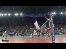 Incredible action in match Iran - Russia