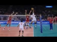 Dmitriy Ilinykh huge block on Amir Ghafour