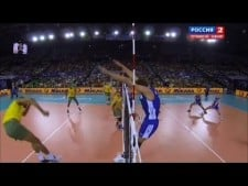 Denis Biryukov huge block on Wallace de Souza