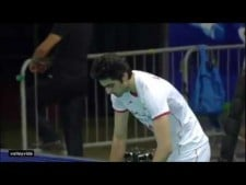 Amir Ghafour 2 aces in a row (Iran - Italy)