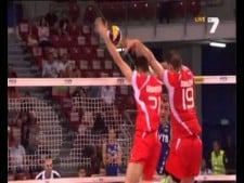 Nikolay Penchev serve vs Russia