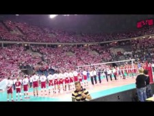 Polish anthem in Arena Kraków