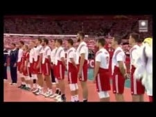 Polish anthem in National Stadium