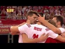Rafał Buszek single block on Mory Sidibe