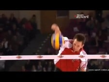 Bartosz Kurek warm-up huge spike (2nd movie)