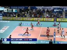 Volleyball Digs in Korean V-League 2014/15