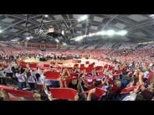 Polish anthem in Atlas Arena (Poland - Italy)