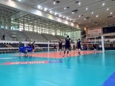 First training of Mitar Djurić in Trentino Volley