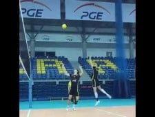 Mariusz Wlazły attack in slow motion
