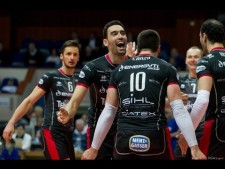 Emanuele Birarelli 10 blocks in match Moscow - Trentino