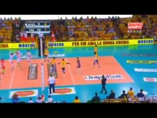 Simone Giannelli in match Modena Volley - Trentino Volley