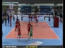 Stanislav Dramov volleyball dig