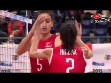 Gozde Sonsirma huge block on Heike Beier