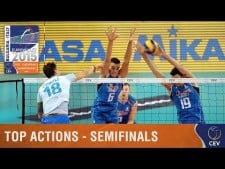 Best actions semi-final matches in EuroVolley 2015