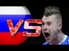 Ivan Zaytsev in match Italy - Russia
