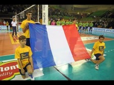 French anthem in match Modena - Latina