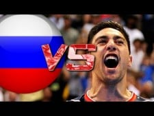 Taylor Sander in match USA - Russia